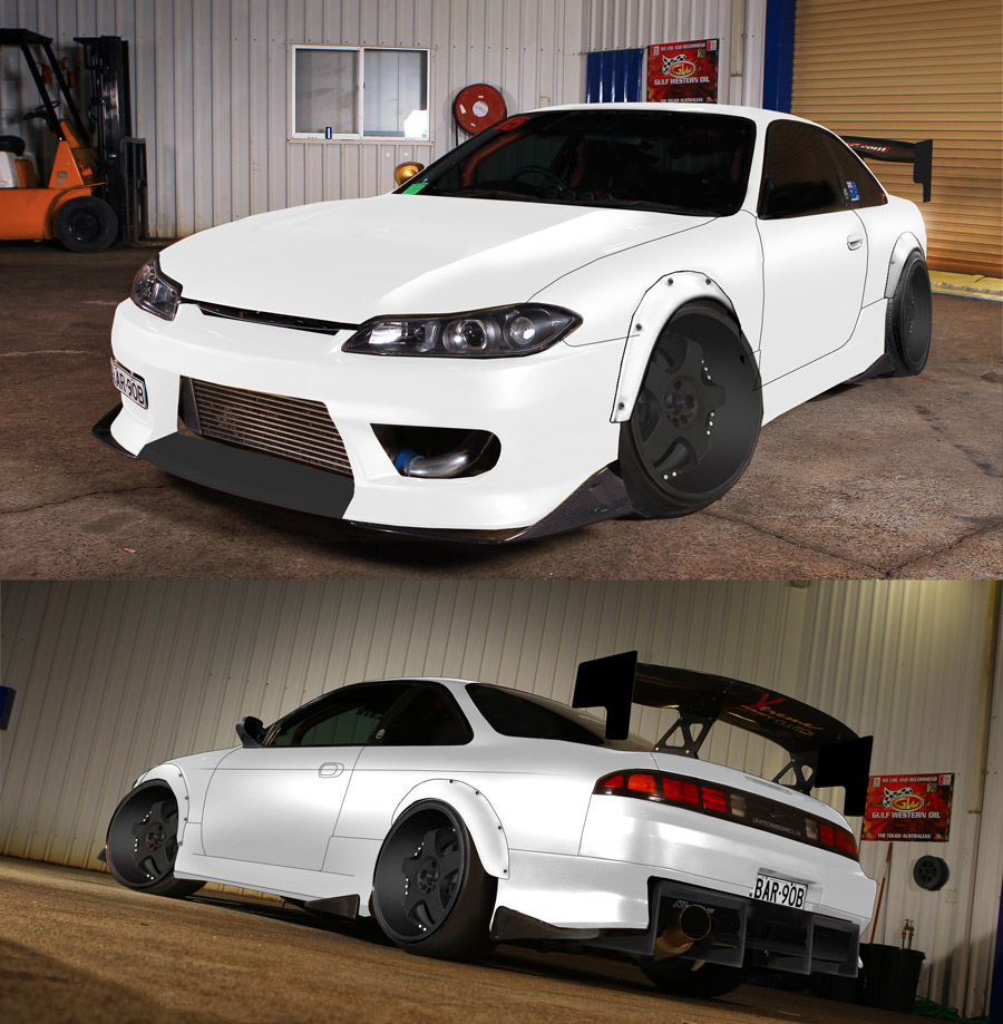 Silvia White Cars Nissan S15 S14 Wallpaper
