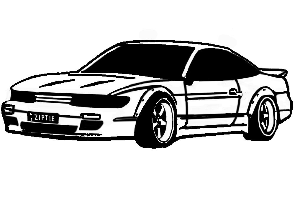 cartoon my ride  initial d style yo