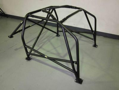AGI - Nissan 180SX - 2013 CAMS National spec Bolt-in Roll cage (front corner shot on floor).jpg